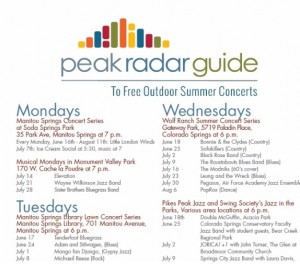 free summer concert guide