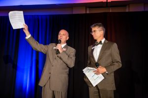 Emcees Andy Vick and Dirk Draper by Mike Pach